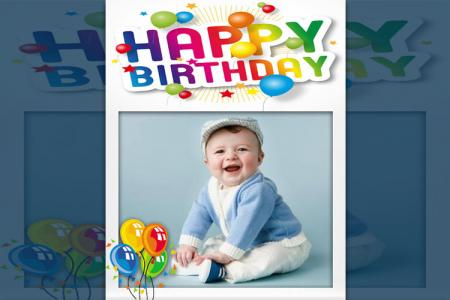 Baby birthday photo frame