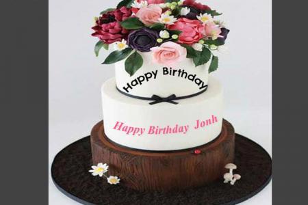 Frame birthday cake, Happy Birthday Wishes &amp, Birthday Cakes With ...