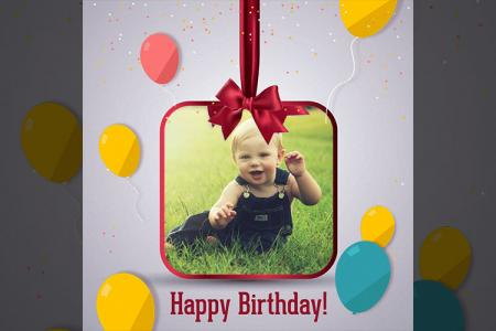 Photo Frame Birthday Cute