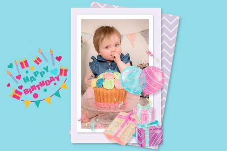Photo Frame for Birthday Greetings