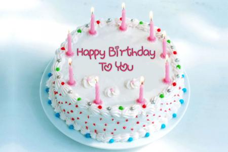 Write Name on Happy Birthday Online