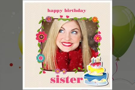 Frame happy birthday sister online