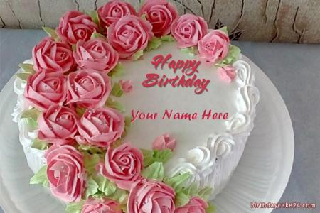 Write Your Name On  Birthday Cake Online