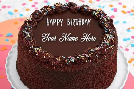 Write Your Name On  Chocolate Birthday Cake Online