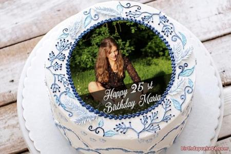 Amazing Birthday Cake With Photo Edit With Name