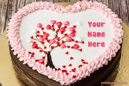 Create Birthday Cake With Names For Lovers