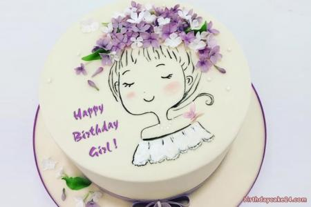 Write Name On Lovely Birthday Cakes For Women