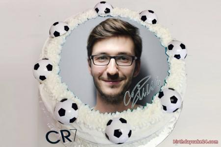 Ronaldo Birthday Cake With Photo Edit
