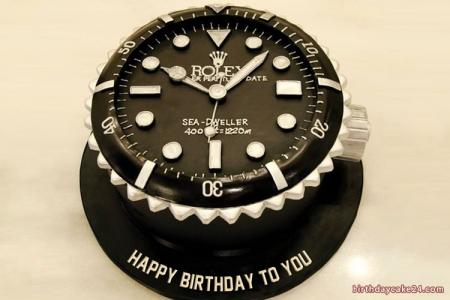 Rolex Watch Birthday Cake For Men With Name