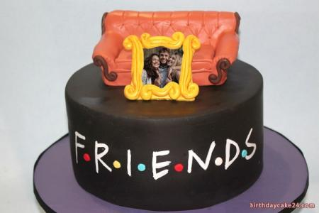 Birthday Cake For Best Friends With Photo Edit