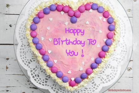 Write Name On Sweet Candy Heart Birthday Cake With Name Edit