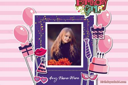 Free Happy Birthday Photo Frame For Girls