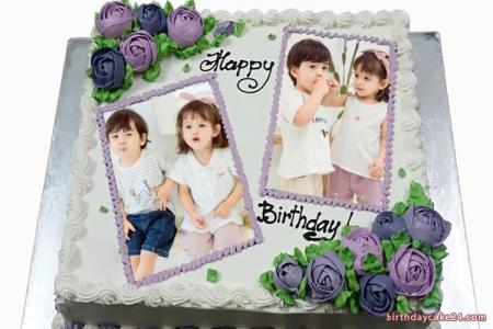 Birthday Cake Dual Photo Frame Edit