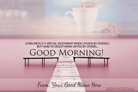 Create A Nice Morning Greeting Card Online Free