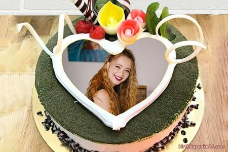 Lovely birthday cake photo frame