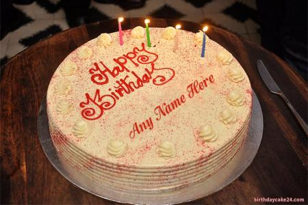 Write Name On Red Velvet Cake Wishes With Name