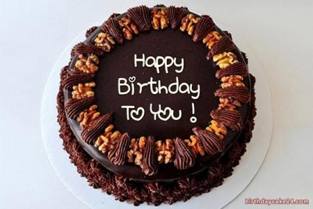 Happy Chocolate Birthday Cake For Lover With Name Edit