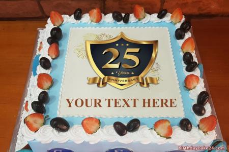 Create Happy Anniversary Cake With Name Edit