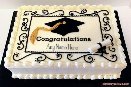 Congratulation Graduation Cake With Name Edit