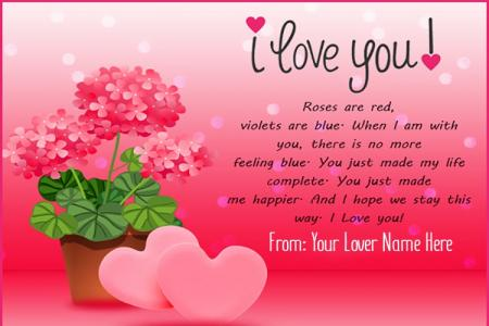 Romantic Love Quotes For Lover With Name Editing