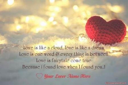 Write Name On Romantic Love Quotes With Images