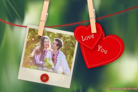 Add Photo On Polaroid Love Heart Frames Online Free