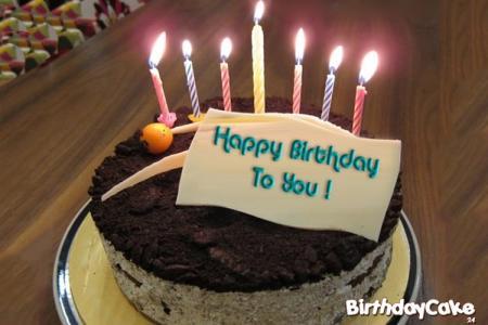 Name Birthday Cake Write Wishes On