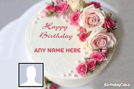 Beautiful Rose Birthday Cake With Photos And Names