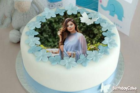 Butterfly Birthday Cake Image With Photo Edit