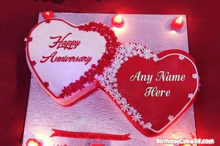 Best Anniversary Wishes Cake By Name Edit