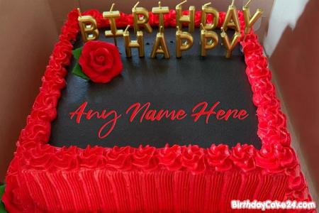 Red Rose Birthday Cake By Name Generator