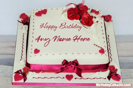 Best Rose Birthday Cake Of Name Generator
