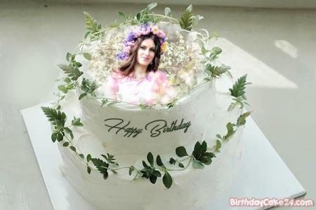 Best Double Layer Birthday Cake With Photo Frame