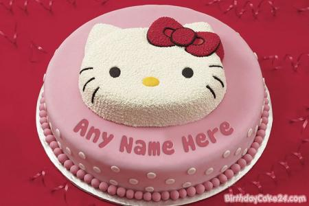 Funny Hello Kitty Birthday Cakes With Name Editor