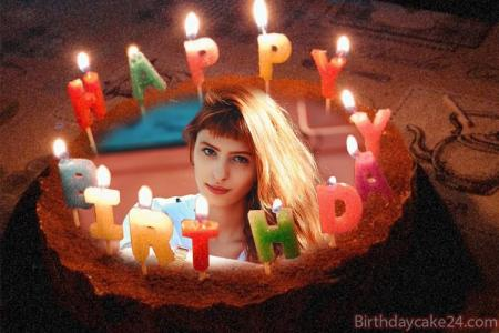Photo on Candles Birthday Cake Pic Free Download