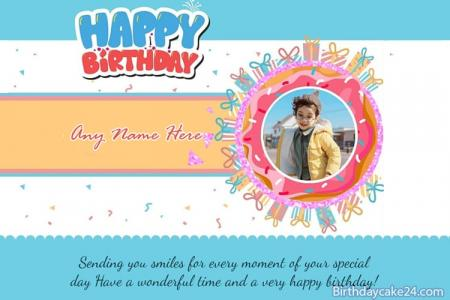Happy Birthday Card With Name And Photo Edit