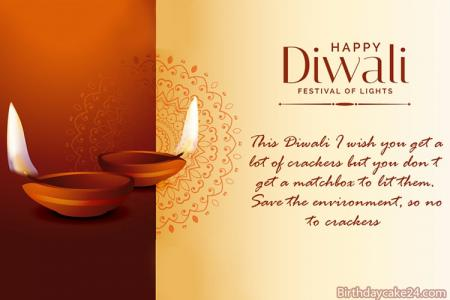 Happy Diwali Wishes Card With Name Editor
