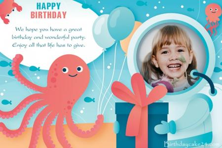 Create Birthday Photo Frame Greeting Cards Online