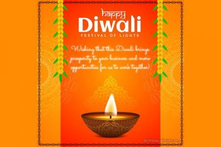 Happy Diwali Greeting Cards Making Online