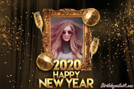 Happy New Year Photo Frame Online Editing 2020