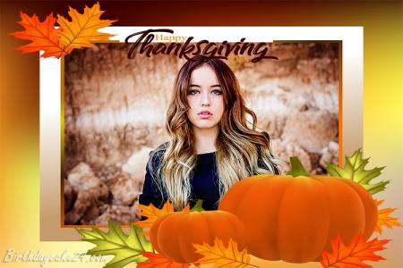 Thanksgiving Photo Frame Online Editing 2020