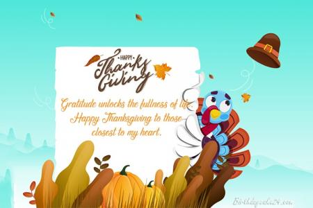 Latest Thanksgiving Greeting Cards With Wishes