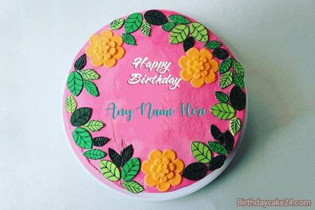 Colorful Happy  Birthday Cake With Name Edit