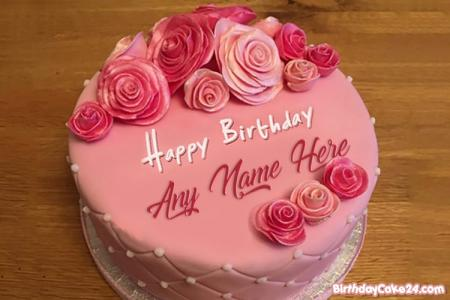 Beautiful Birthday Flowers Name Cakes