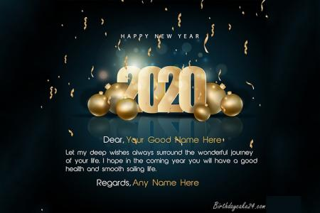 Sparkling Happy New Year 2020 Gif Photo Frames