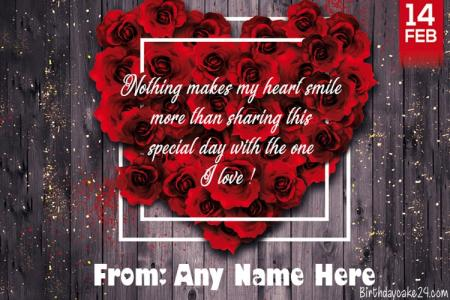 14 February Valentine's Day Ecard Maker