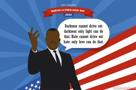 Martin Luther King Jr. Day 2021 Greeting Wishes Card