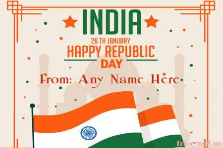 Happy Republic Day India Wishes With My Name