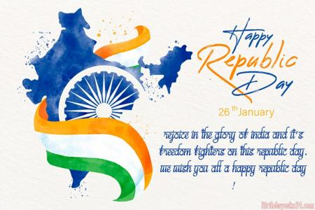 Free Wishes For A Happy Republic Day Greeting Card