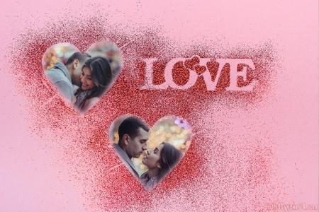 Add Online Double Romantic Love Frames Editing